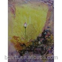 Traditonal Hand Painted Lotus Flower Oil Painting From Professional Artists