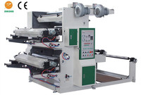 Sunidea Double 2 colour paper plastic film flexo printing machine with mental anilox roller
