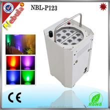 Nebula 12x 3W RGB 3-in-1 Led mini lights battery operated
