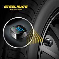 2015 Steelmate TP-76B car led Wireless DIY tpms motorcycle tire pressure monitoring system,vacuum gun,alert valve cap indicator