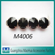 M4006 cheap black metal shoe accessory ladies shoe decoration metal shoe buckle