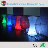 illuminated light up outdoor led bar furniture/led bar stand table