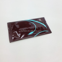 Customized Single pack advertising wet tissues wet wipes