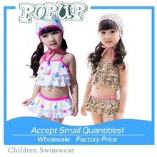 Hot! Sexy Leopard Pattern Young Girl Swimwear Color Spots Triangl Swimwear for Baby