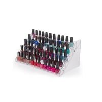 3 tier clear acrylic nail polish case nail organizer display shelf display rack nail polish display shelf