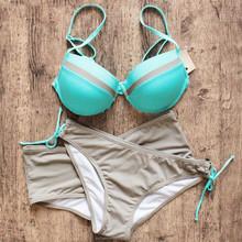 2015 summer bikini sweet girl sexy bandeau extreme transparent brown bikini
