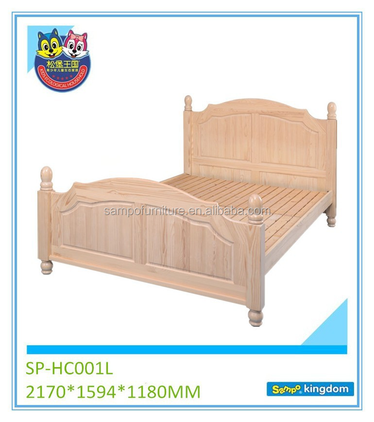 Kids bedroom furniture set kids solid wood king size beds sp hc001l buy furniture bedroom Unfinished childrens bedroom furniture