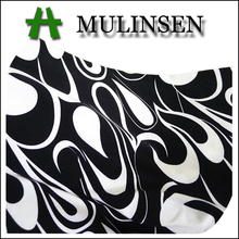 Mulinsen textile wholesale satin fabric twisted printed fabric chinese brocade fabric