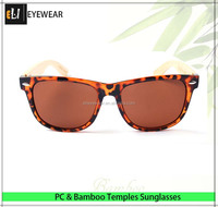 Tortise color Summer Plastic with Bamboo Wood Sunglasses