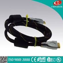 1080p, 3D, high speed HDMI 1.4 cable metal