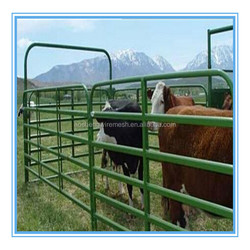China supplier Heavy duty galvanized steel portable cattle yard panel with gate
