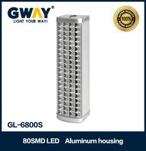 80pcs of 2835 SMD LED Aluminum housing lead-acid battery rechargeable emergency light lantern
