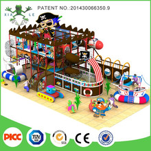 Factory supply priate ship theme kids indoor soft playground euqipment for sale