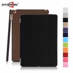 hot Sales fashion PU smart case for iPad mini4 many 3 folder auto sleep case