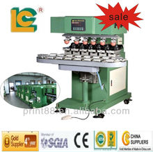 new product hot sale LC-SPM6-150/22L semi automatic 6 color pad printing machines for golf ball, toy, pen machines for sale
