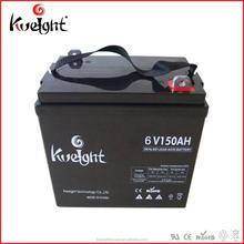 6V 150AH battery maintenance free lead acid battery 2V 6V 12V available