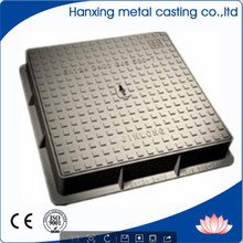 Double Seal Anti-theft Rectangular Iron Cast Telecom manhole cover