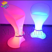 2015 new products luminous plastic RGB led bar high chair