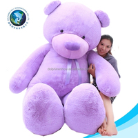 Promotional cheap purple 5 ft big teddy bear cute kids toy stuffed soft plush bear toy for 200cm