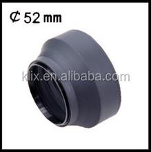 52mm 3 in 1 Lens Hood 3 Stage Rubber Lens Hood 3 in 1 Lens Hood