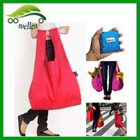 Cheap nylon foldable shopping bag, customised shopping bag