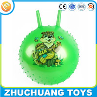 cheap inflatable plastic massage bouncy balls with handle for kids