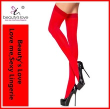 Wholesale 2015 Lycra Red women Opaque Thigh High