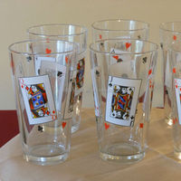Bengbu Longyu Glassware factory made in China with poker face design drinking water beer pint glass cups