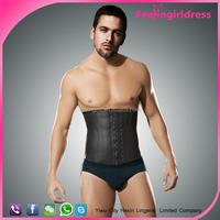 9 Steel Boned Latex exercise slimming men body shaper waist cincher corset 6XL
