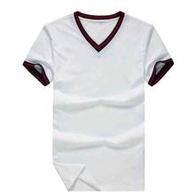 New Fashion wholesale Blank Men's T-shirt Custom Design T shirt With V-neck