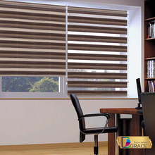 100% Polyester European style Zebra blinds two layer rol