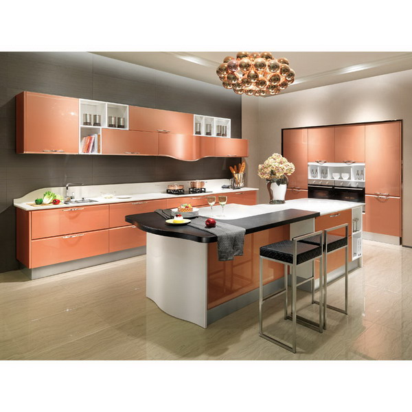 2014 oppein isla de laca gabinete de cocina modernos