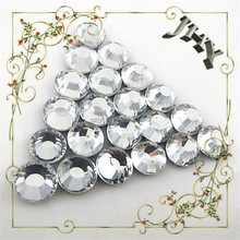 Wholesale Round Clear DMC High Quality Glass Crystal Material Hotfix Crystal
