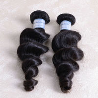 One donor long lasting Queenly also like high quality 3 bundles 22inch virgin malaysian hair weave loose wave