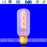 china factory vintage bulb, decorative tubular bulb in restaurant T38 25W/40W/60W