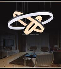 led plastic pendant lamp shade acrylic ring pendant lamp