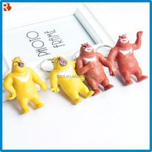 raccoon tail keychain/keychain supplier/bear pvc keychain promotion