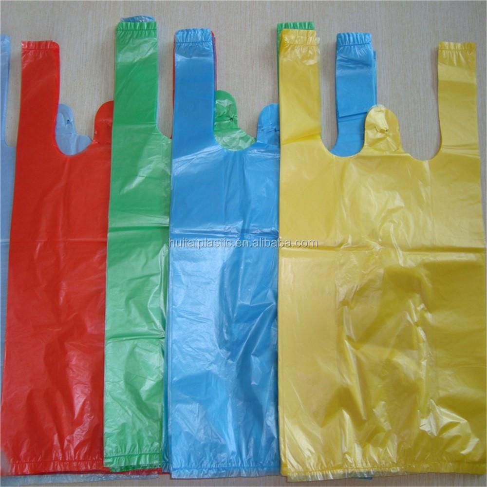Hdpe plastic t shirt bag for shopping in supermarket buy for Plastic t shirt bag