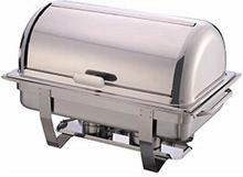 Economy rectangular stainless steel buffet chafer, chafing dish