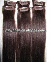 Factory Price 30 inch dryed color hair extensions clip in/accept sample order