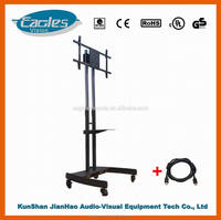 Full motion modern movable tv stand