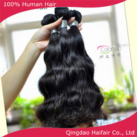 virgin human hair extension in new york black color wavy style on cheap sale