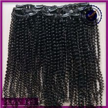 New coming 100 human braiding afro kinky curly clip in hair extensions, chic unprocessed raw cambodian hair