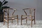 réplica cor natureza madeira / cores preto cinza sólida cadeira sombra Y madeira / Wishbone cadeira projetada por Tem J.Wegner