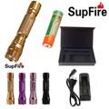 Supfire M4 4 colores ( rosa, negro, oro, púrpura ) recargable del aluminio led flashlight