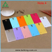 Colorful phone accessories for Galaxy Note4, for Galaxy Note4 battery cover replacement