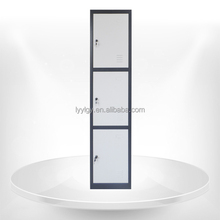 Best selling 3 door kd steel staff lockers with hanging rods for office