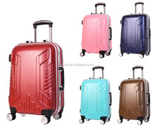 PC frosted Aluminum frame luggage PC luggage colorful luggage