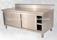 mesa de acero inoxidable para comerciales de cocina