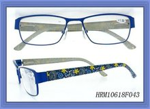 metal reading glasses with beautiful pattern